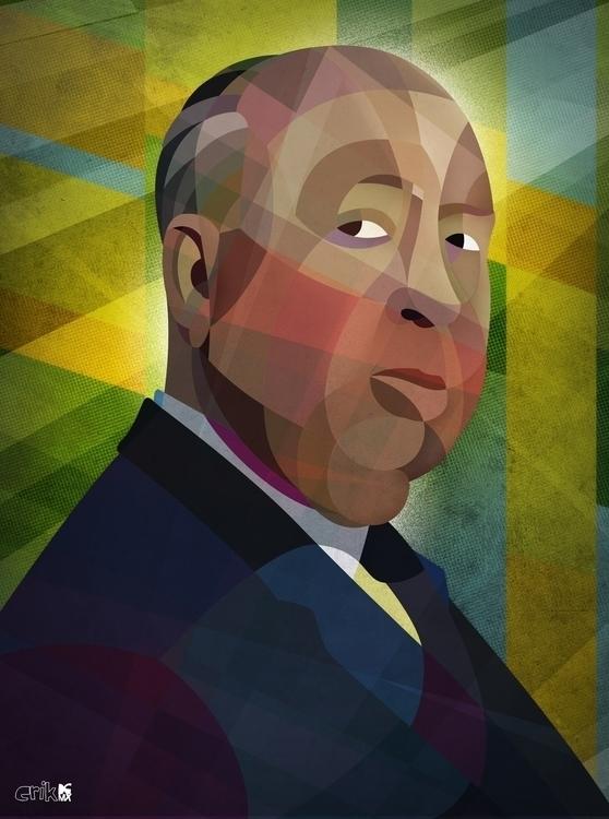 Alfred Hitchcock - illustration - erikdgmx | ello