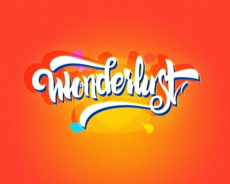 wonderlust lettering - letters, type - erikdgmx | ello