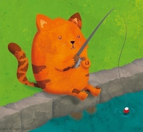 Summer - Fishing Dinner - clairestamper | ello