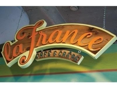 Wooden Sign La France Cafe Crep - graceblevins | ello