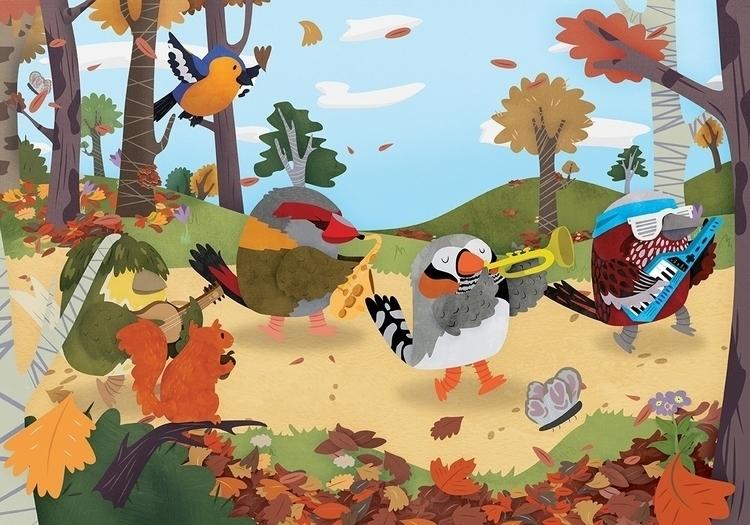Bird Band - birds, band, autumn - clairestamper   ello