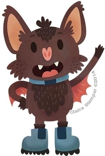 Batty - bat, character, wave, vector - clairestamper | ello