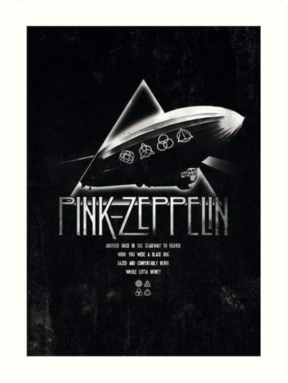 Pink Zeppelin - illustration, drawing - meganpalmer | ello