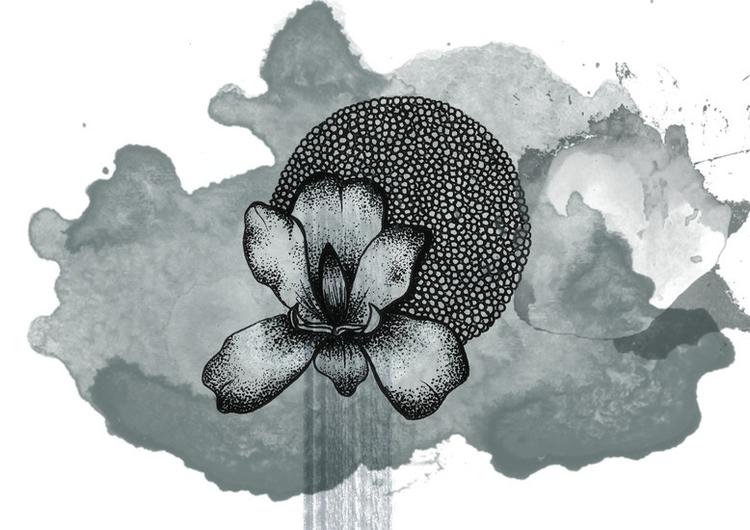 Flower Doodle - illustration, doodle - byeblackbirdy | ello