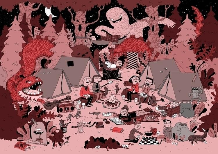 Camping - character, illustration - sarahmatuszewski | ello