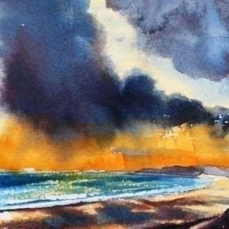 watercolour painting - seascape - mangolozolo | ello