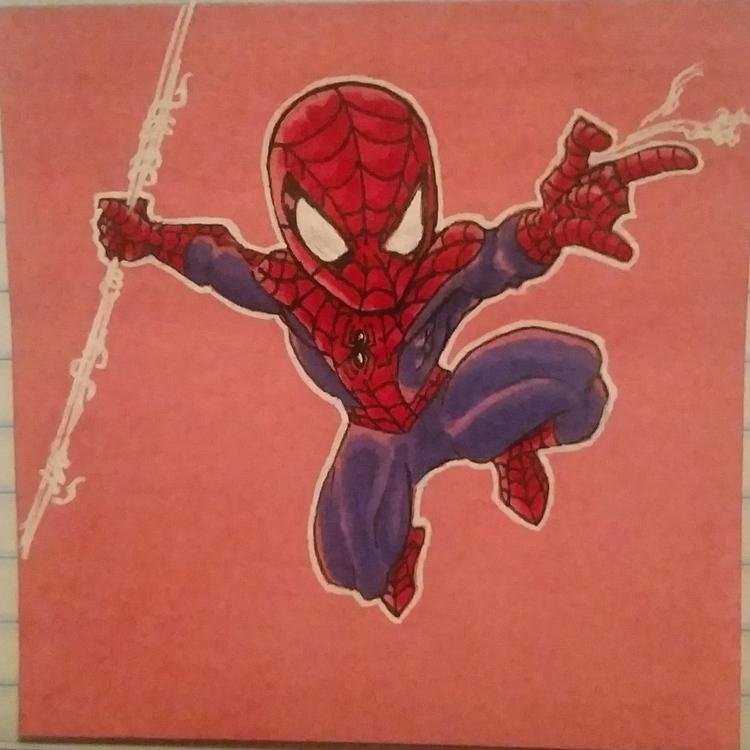 note drawing spiderman - illustration - celestdeath | ello