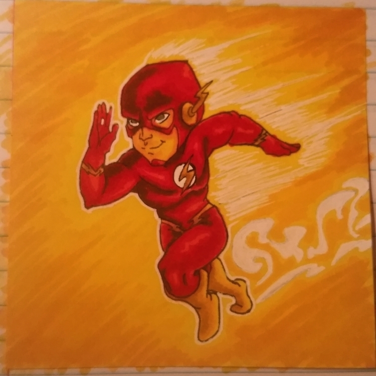 note drawing Flash - illustration - celestdeath   ello