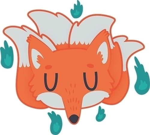 Fox Spirit Sprite - fox, spirit - clairestamper   ello