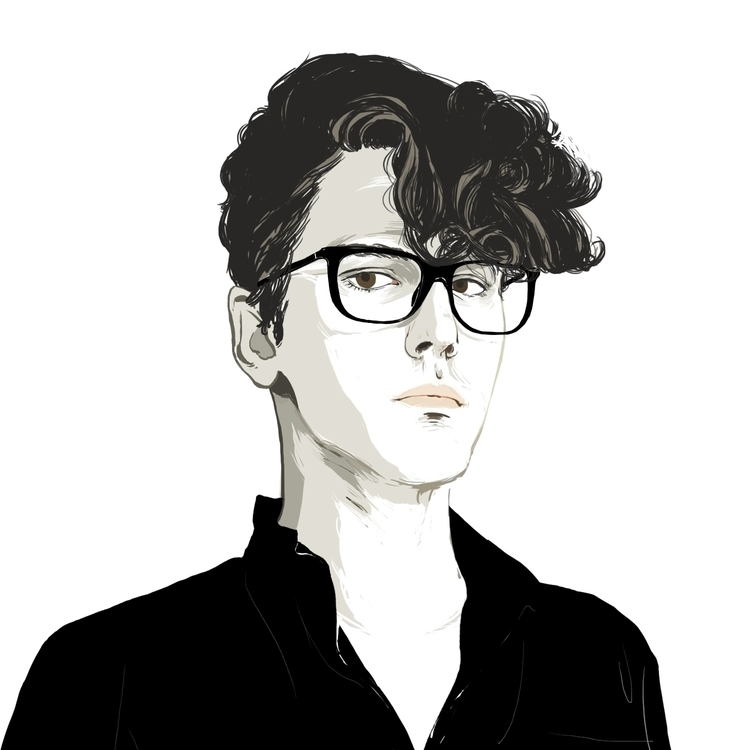 Xavier Dolan - portrait, illustration - mioim | ello