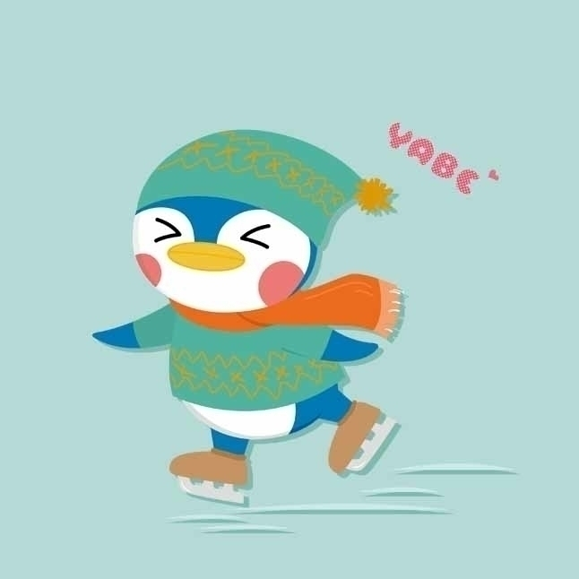 Animal Land - penguin - illustration - kekemao | ello
