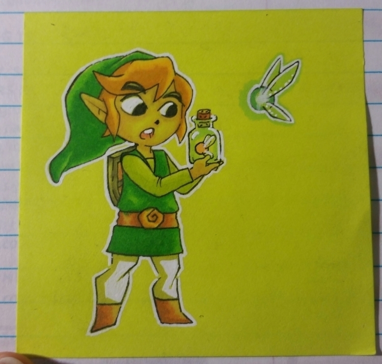 note drawing Toon Link Legend Z - celestdeath | ello