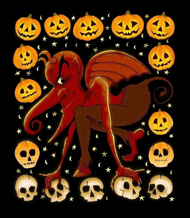 Halloween Devil - illustration, drawing - johnjgriffiths | ello