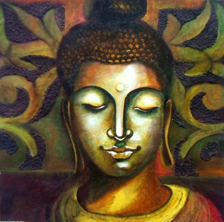 BUDDHA - illustration, painting - neeruart | ello