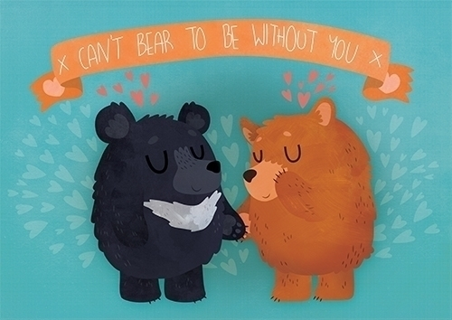 Bear - Card - bear, love, valentines - clairestamper | ello