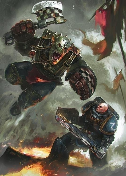 Personal illustration - warhammer - victorperezcorbella | ello