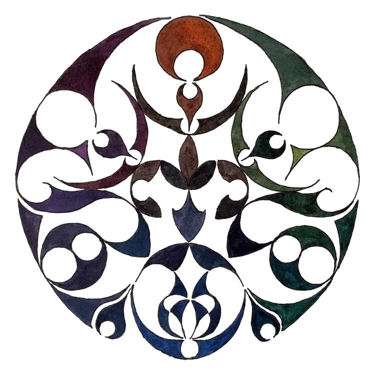 geometric, circles, pattern, patterndesign - pj-1045 | ello