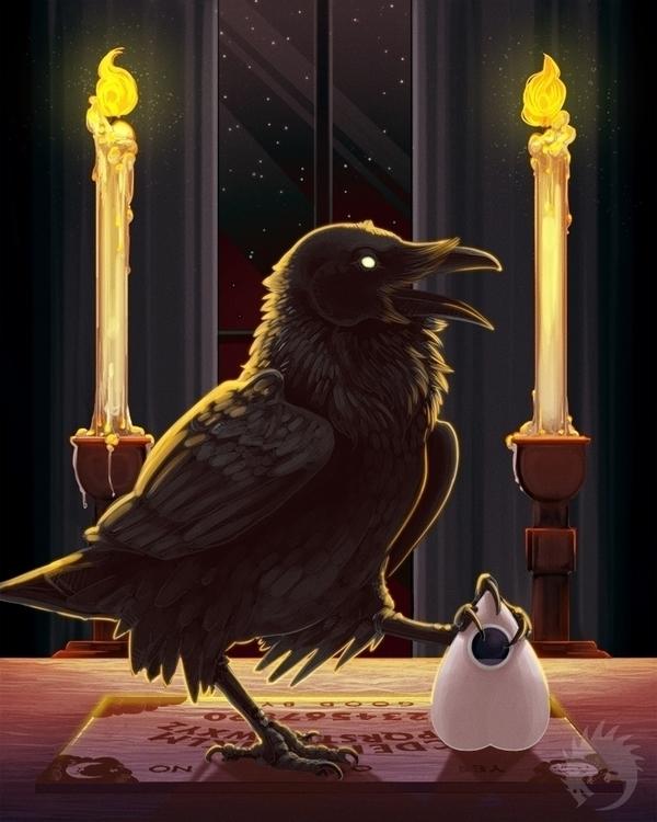 Raven medium - illustration, raven - reach-5958 | ello
