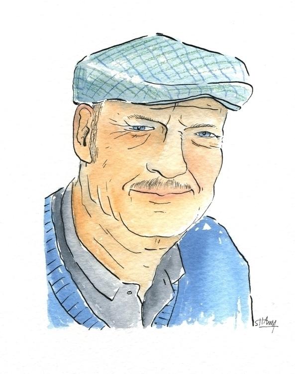 Portrait Peter - illustration, watercolor - shawy-5487 | ello