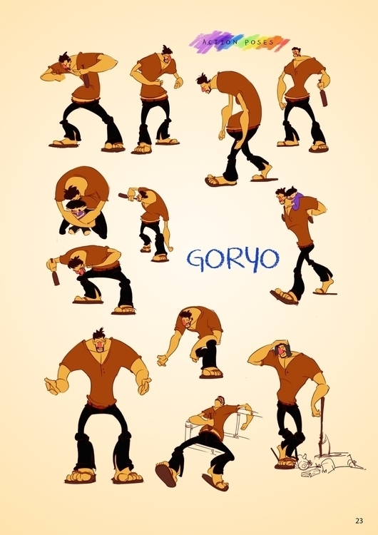 Goryo Character Poses - animation - arvinjezergagui | ello