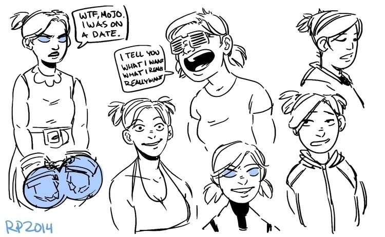 Bubbles sketches.  - powerpuffgirls - rachelpoulson | ello