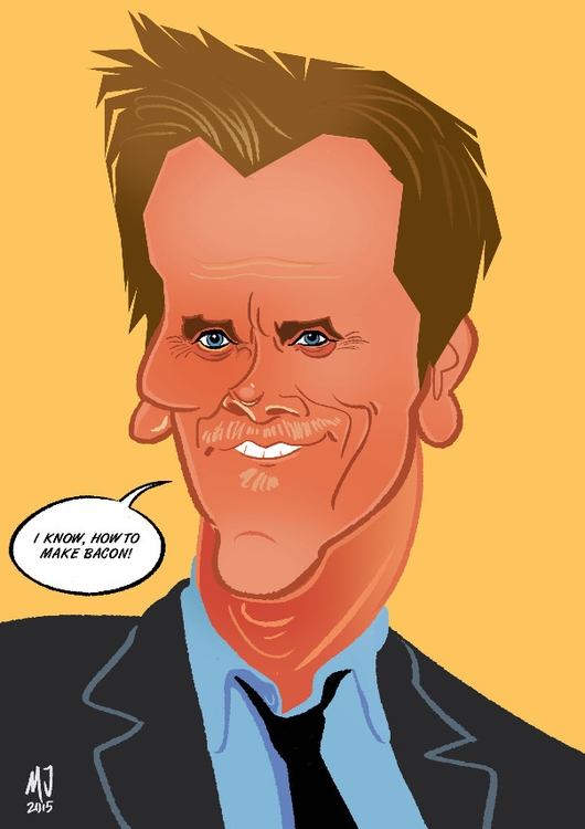 Kevin Bacon - illustration, digitalart - marts-1415 | ello