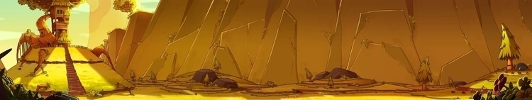 Meadow Background - animation, painting - arvinjezergagui | ello