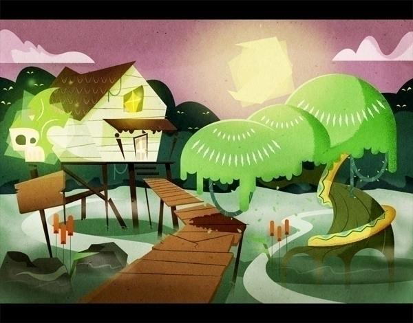 experience backgrounds - swamp, illustration - jjneto | ello