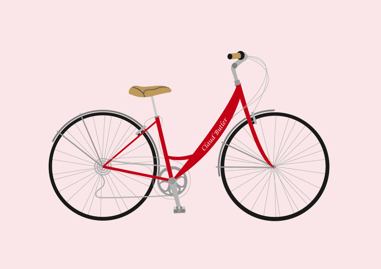Claud butler bike illustration - leahwatson | ello