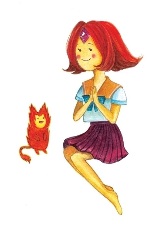 fire princess Watercolour 300gs - hsieying | ello