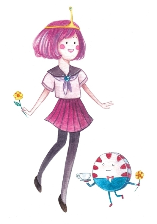 Bubblegum princess Watercolour  - hsieying | ello