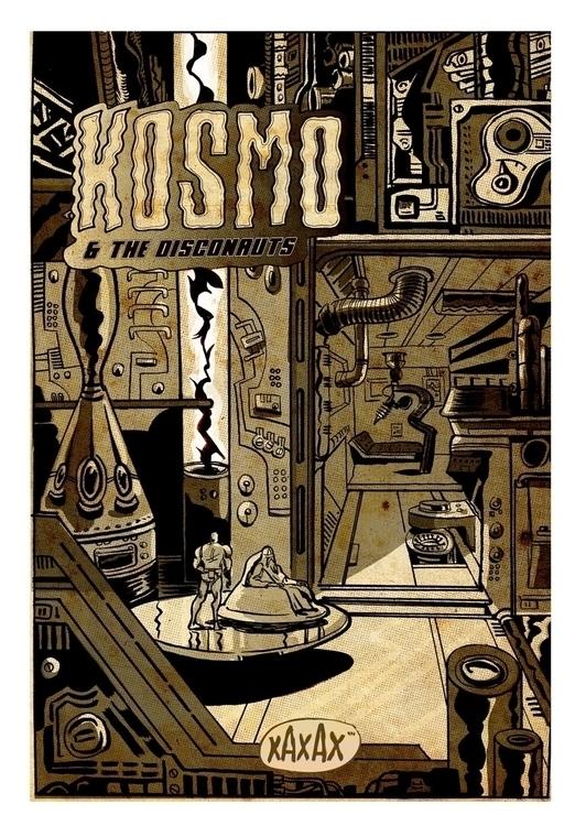 Kosmo - Comic-book cover - illustration - xaxax | ello