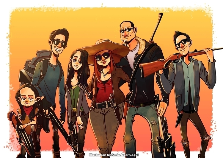 Walking Dead Family Caricatures - arvinjezergagui | ello