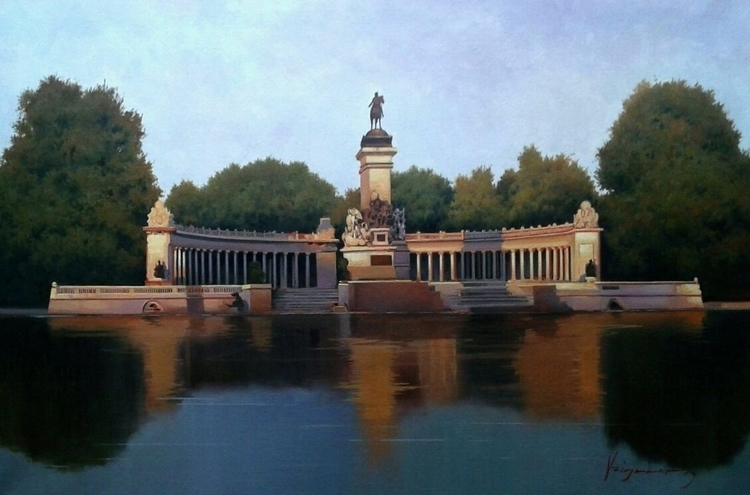 Retiro Park. Madrid 40x60 cm. o - josehiguera | ello