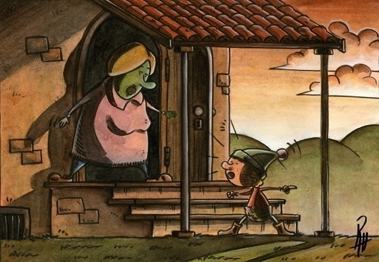 deceit - illustration, painting - marcorizzi-1205 | ello