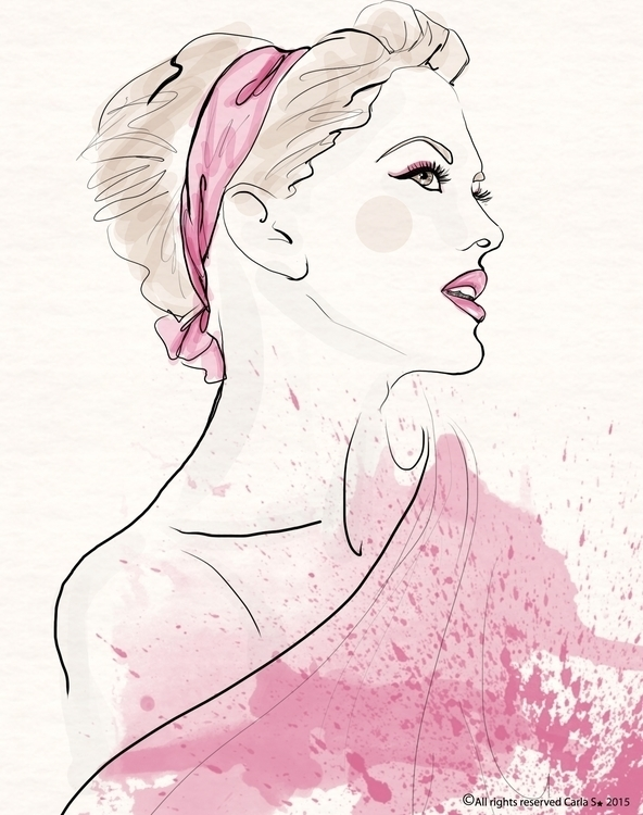 Pretty pink - illustration, fashion - carla_s | ello