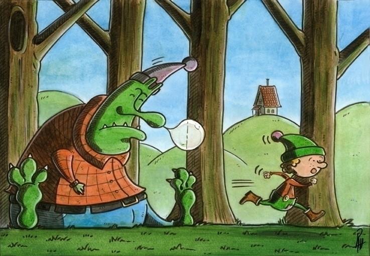 Ogre'sboot - illustration, painting - marcorizzi-1205 | ello