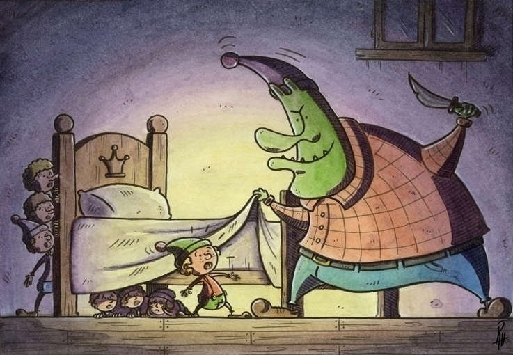 Hungry ogre - illustration, painting - marcorizzi-1205 | ello