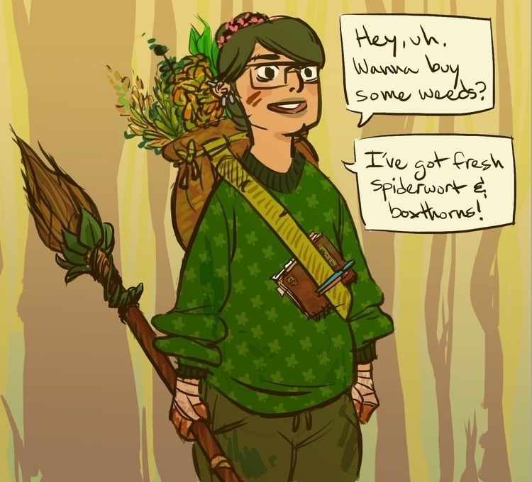 2014 witchsona! bookworm hedgew - rachelpoulson | ello