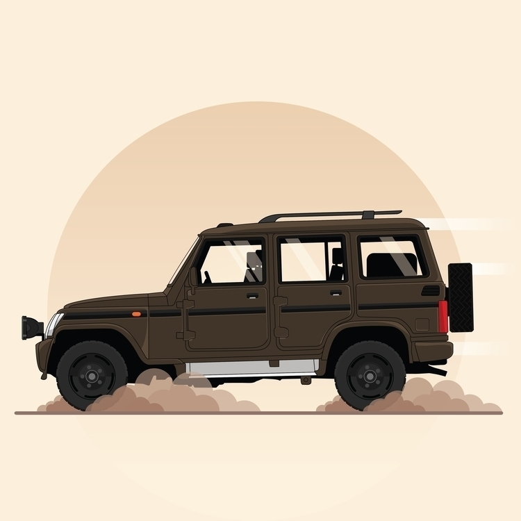 Mahindra Bolero (indian SUV - illustration - rajchozhiath | ello