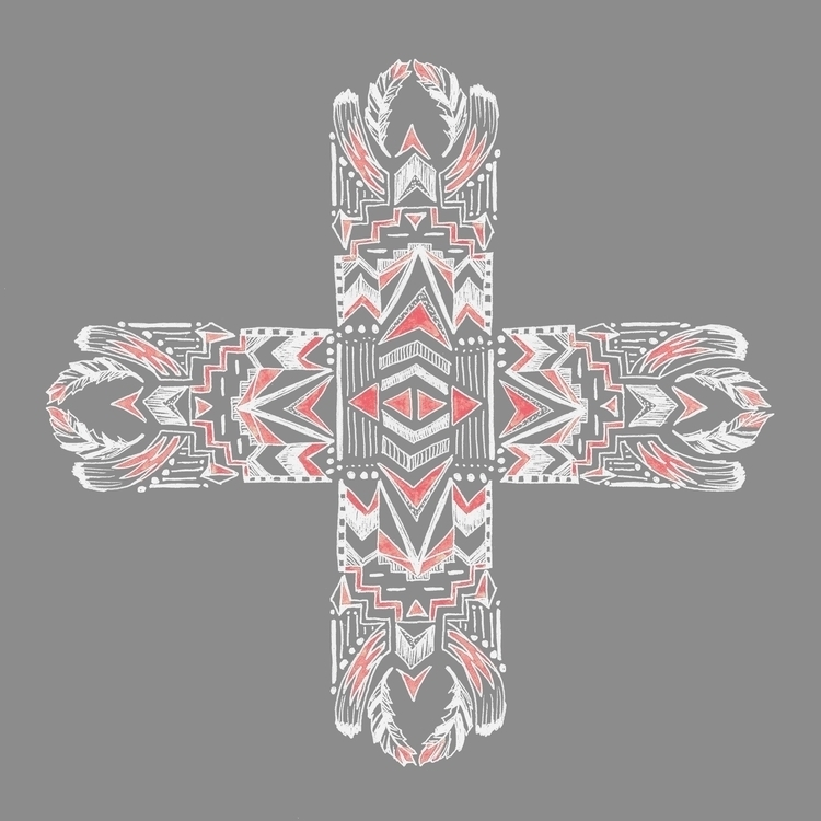 Tribal Cross - illustration, tribal - tiki-1251 | ello