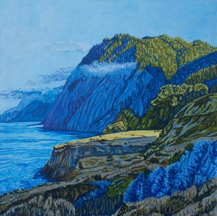 Lost Coast - oil canvas 36 - painting - crystaldipietro | ello