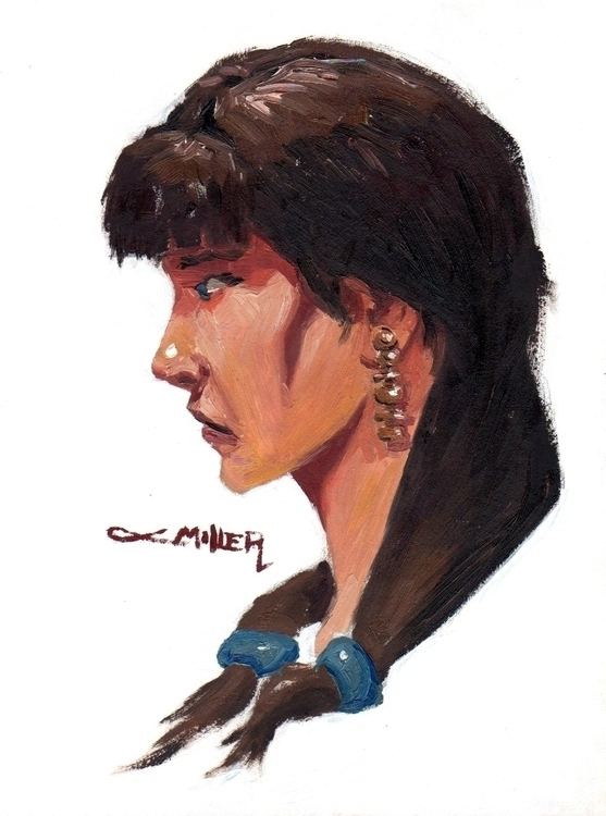 Native-American Portrait, 8x10  - camm182 | ello
