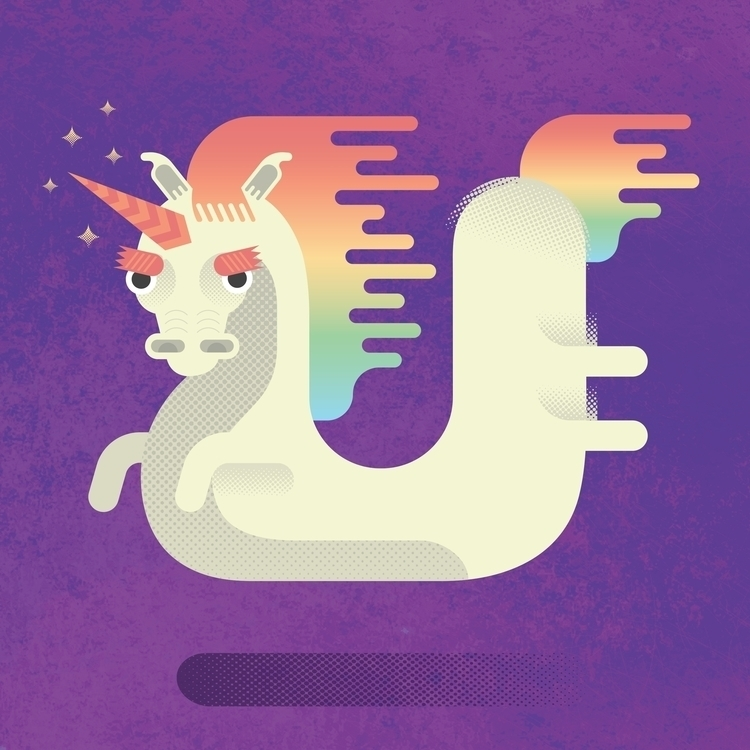 Unicorn - #illustration, vectorillustration - riccardopierassa | ello