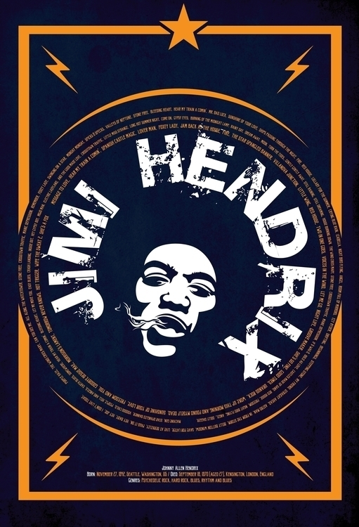 illustration, jimihendrix, music - alexandru-9169 | ello