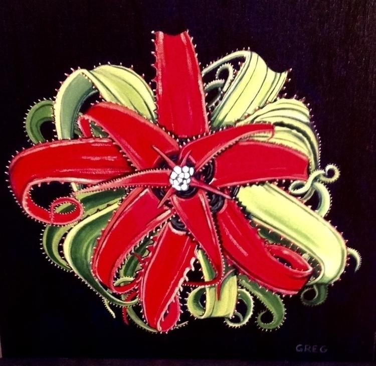 Neoregelia pendula - painting - gregorygarrett | ello