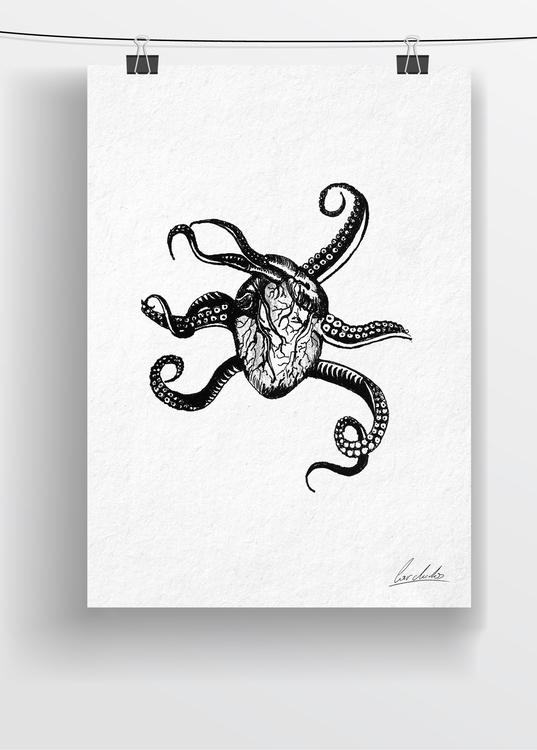draw - drawing, art, penink, octopus - cardula | ello