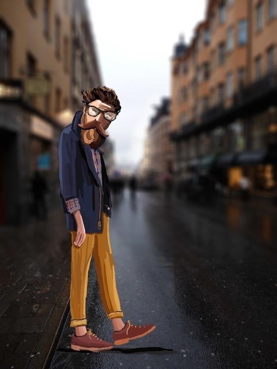hipster, illustration - skuggan | ello