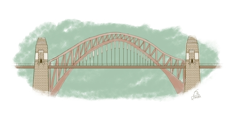 Bridge - bridge, illustration - binomaia | ello
