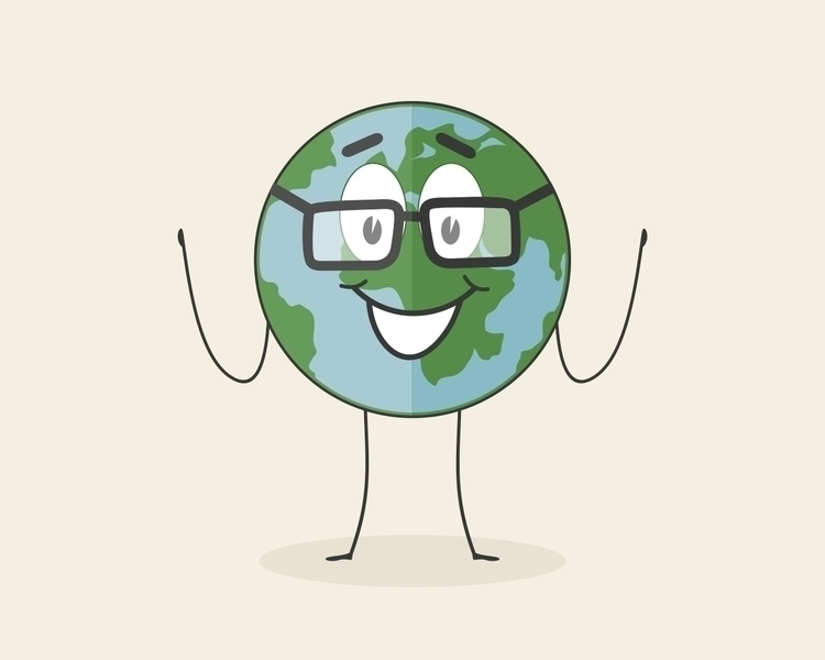 world, cartoon, glasses - vector30   ello